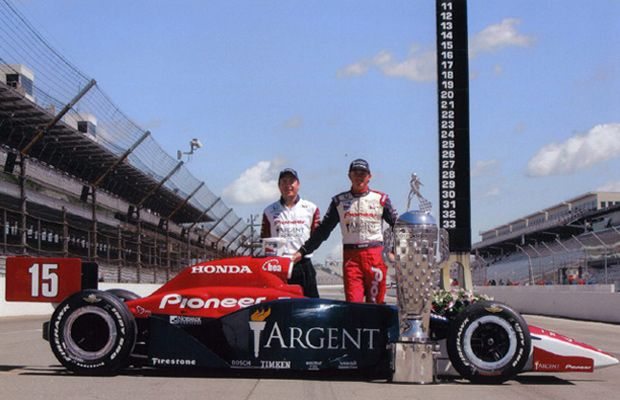 "<span class = ""time-line-date"">May</span><br>Buddy Rice Wins Indy 500 