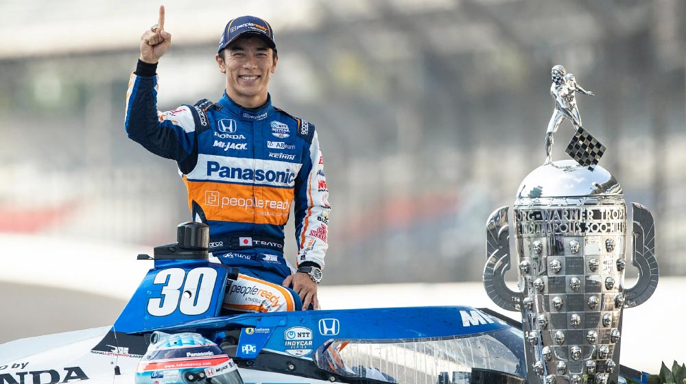 August 23 – Takuma Sato from Team Rahal Letterman Lannigan wins the 2020 Indy 500!